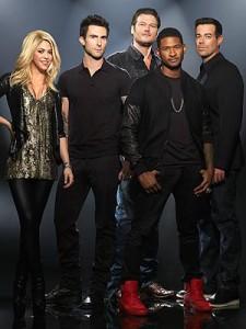 Shakira, Adam, Blake, Usher, Carson