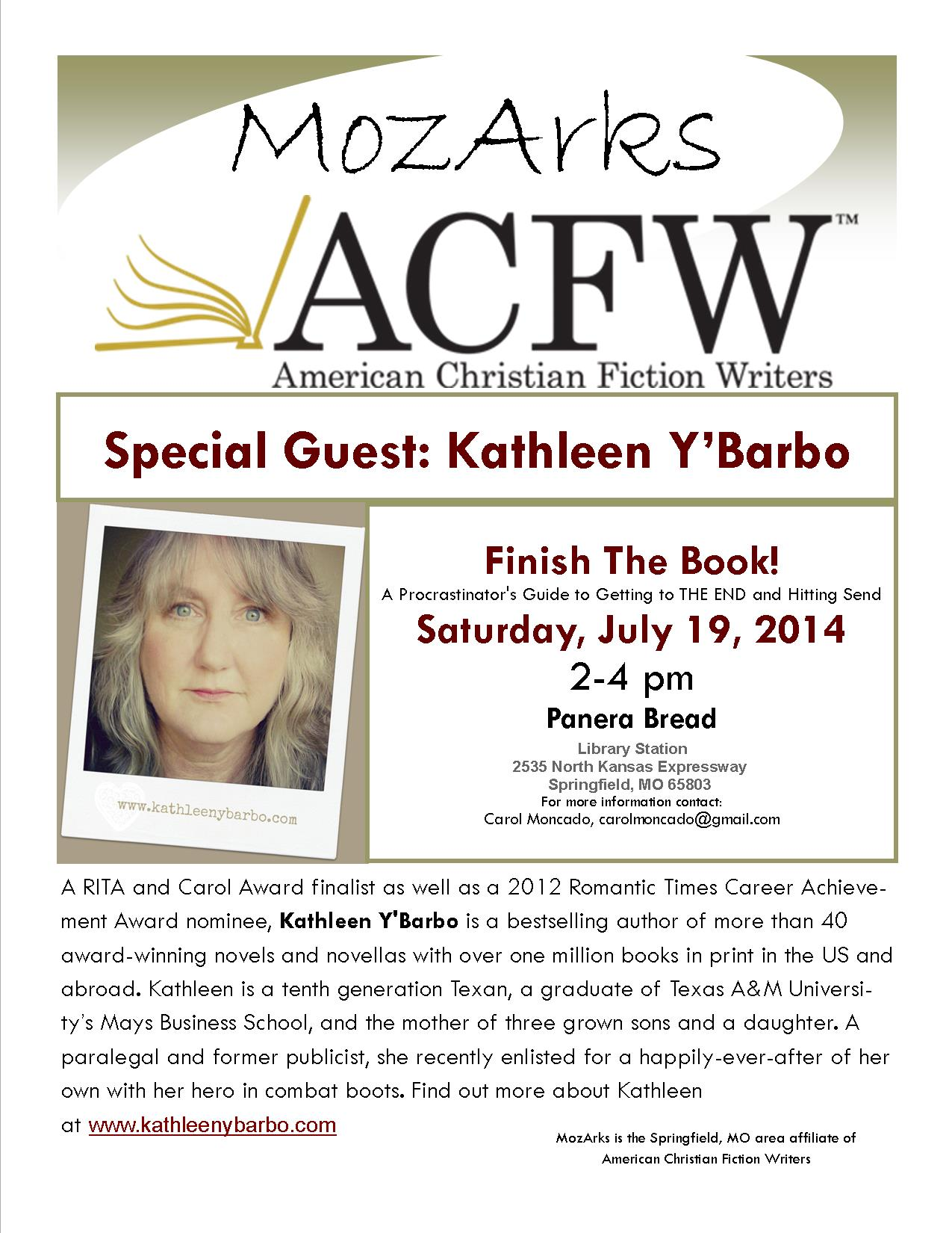 Kathleen Y'Barbo July 14